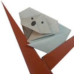 考拉(树袋熊)折纸方法