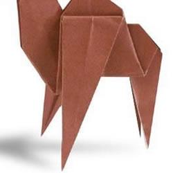 单峰骆驼手工折纸方法