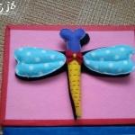 布艺DIY制作的蜻蜓