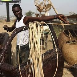 非洲编织工匠的广告创意