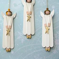 冰棍棒手工DIY天使挂饰