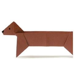 腊肠狗折纸方法