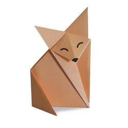 狐狸手工折纸教程