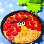 动手DIY愤怒小鸟版香肠芝士披萨