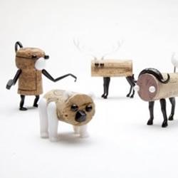 红酒瓶塞DIY的动物玩偶