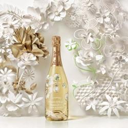 法国香槟的漂亮鲜花背景剪纸