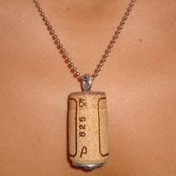 葡萄酒软木塞DIY制作的项链