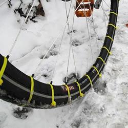 自行车轮胎防滑DIY