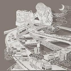 复杂、逼真的剪纸作品