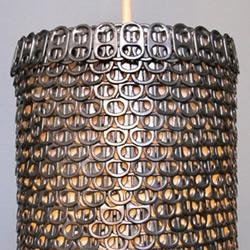 易拉罐拉环制作的环保吊灯