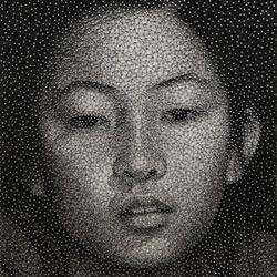 钉子DIY的肖像作品