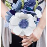 漂亮的不织布手捧花