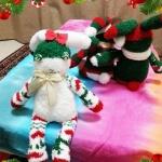 """毛绒袜子DIY制作""""圣诞兔""""玩偶"""