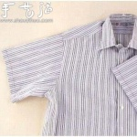 长袖衬衫改造成短袖的方法