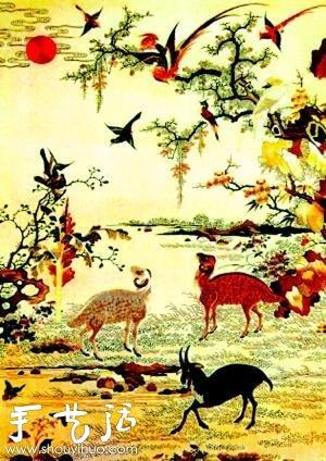 现代刺绣与古代刺绣图案对比 -  www.shouyihuo.com