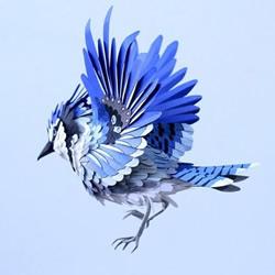 栩栩如生的鸟类纸艺作品