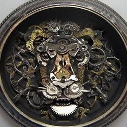 废旧种表零件DIY的重金属艺术品