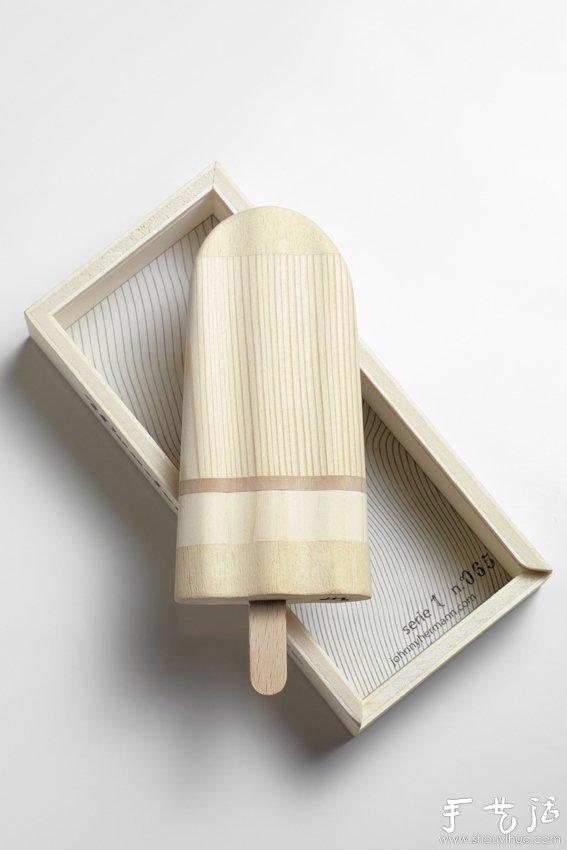 """手工製作的""""木製冰棒"""""""