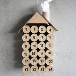 环保小制作:卫生纸卷筒DIY日历