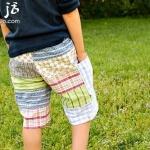 旧物改造:男式休闲短裤手工制作