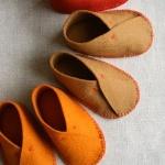 羊毛毡制作可爱舒适婴儿鞋