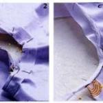 自制专用披肩 防止衣服被宝宝弄脏
