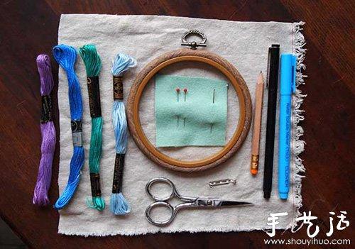 布艺胸章手工制作方法 -  www.shouyihuo.com