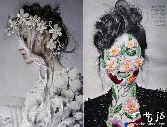 时尚刺绣与摄影的完美结合 -  www.shouyihuo.com