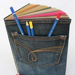 牛仔裤旧物改造 DIY时尚创意书套