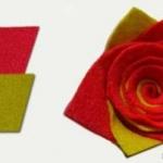 手工布艺制作玫瑰花朵的方法