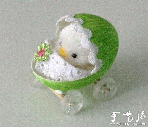 手绘蛋壳与道具DIY趣味生活场景 -  www.shouyihuo.com