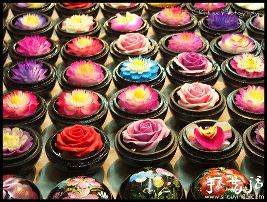 泰國傳統手工藝品香皂花