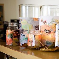 玻璃瓶变废为宝DIY漂亮蜡烛杯