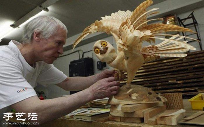 木屑手工制作栩