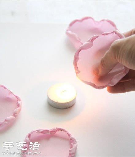 雪紡布+毛線 手工製作布藝牡丹花