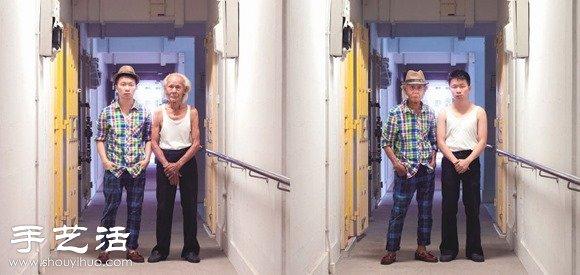 創意有趣攝影構思 親人衣服換換拍