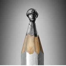 铅笔芯微雕世界各国领袖头像