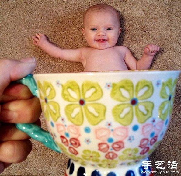 """""""杯中的小精靈""""兒童創意攝影"""