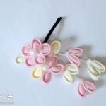 DIY制作小清新花朵发卡