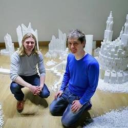 50多万颗方糖DIY幻想中的未来城市模型