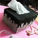 碎布料DIY制作漂亮布艺纸巾盒