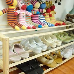 自制简约木鞋架 木制鞋架手工DIY