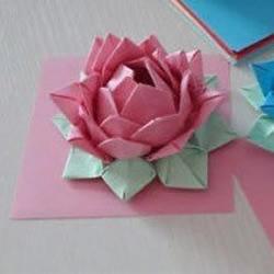纸莲花的折法 如何折纸莲花的方法