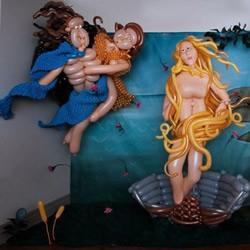 街头艺术家Larry Moss的气球编织作品