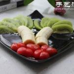 小番茄+香蕉+猕猴桃 水果拼盘的做法