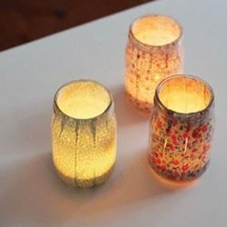玻璃罐变废为宝手工制作浪漫日式蜡烛台