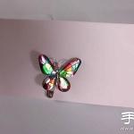 铝箔纸+环氧树脂 手工制作蝴蝶别针/发夹