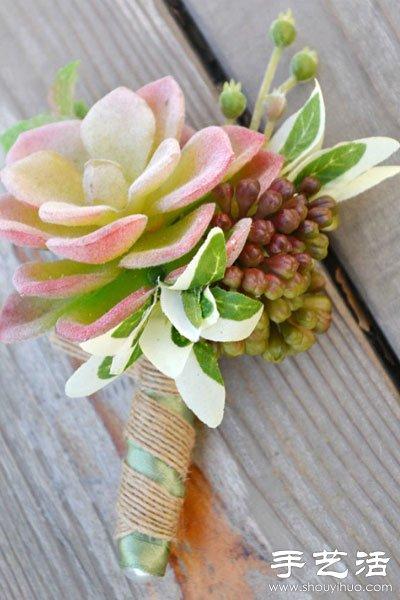 结婚房间装饰_多肉植物DIY环保个性婚庆布置(2)_手艺活网