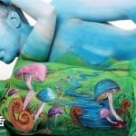 Gesine Marwedel人体彩绘作品