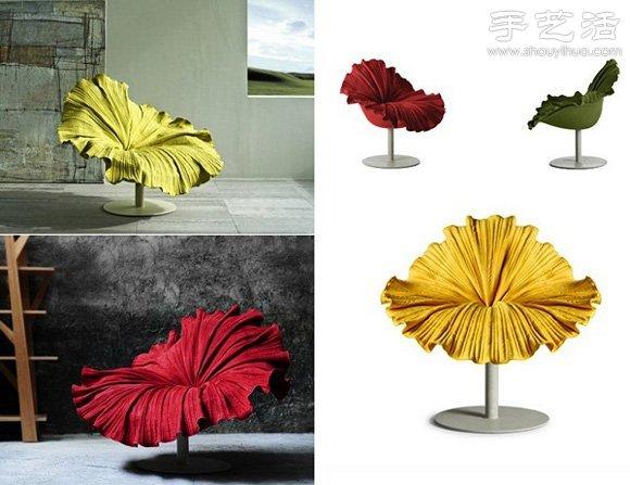 猶如盛開花朵的創意椅子